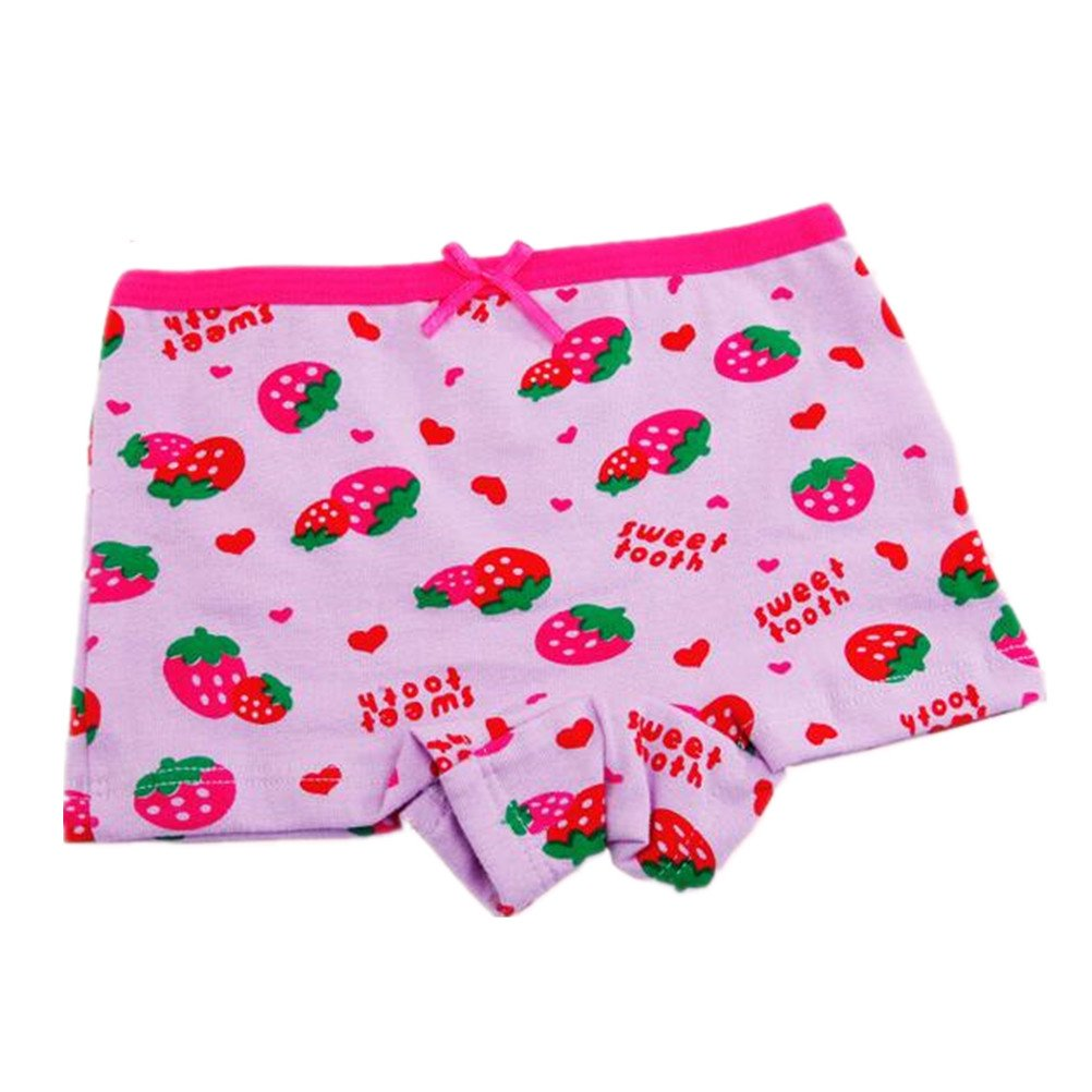 Adiasen little Girls cute 4 Packs Cotton Underwear Briefs Hipster