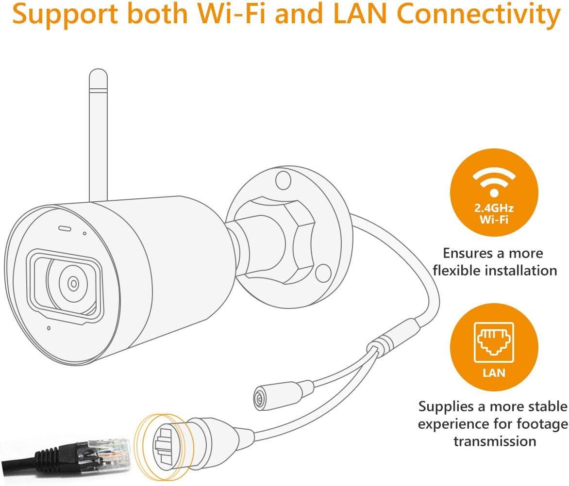 Imou Cámara de Vigilancia WiFi Exterior 4MP con 4.5dBi Anterna Externa IP67 Impermeable con Visión Nocturna de 30m, Detección de Movimiento, Work with ...