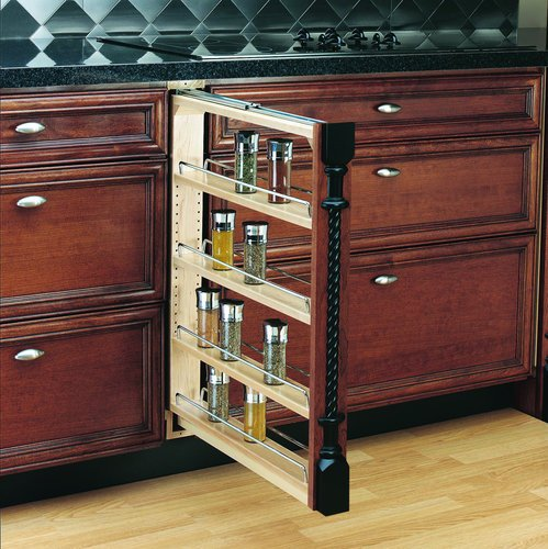 "Rev-A-Shelf 3"" Base Filler Pullout, Natural"