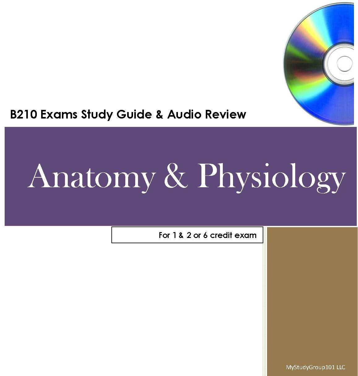Amazon Mystudygroup101 Anatomy Physiology 12 And 6 Credit