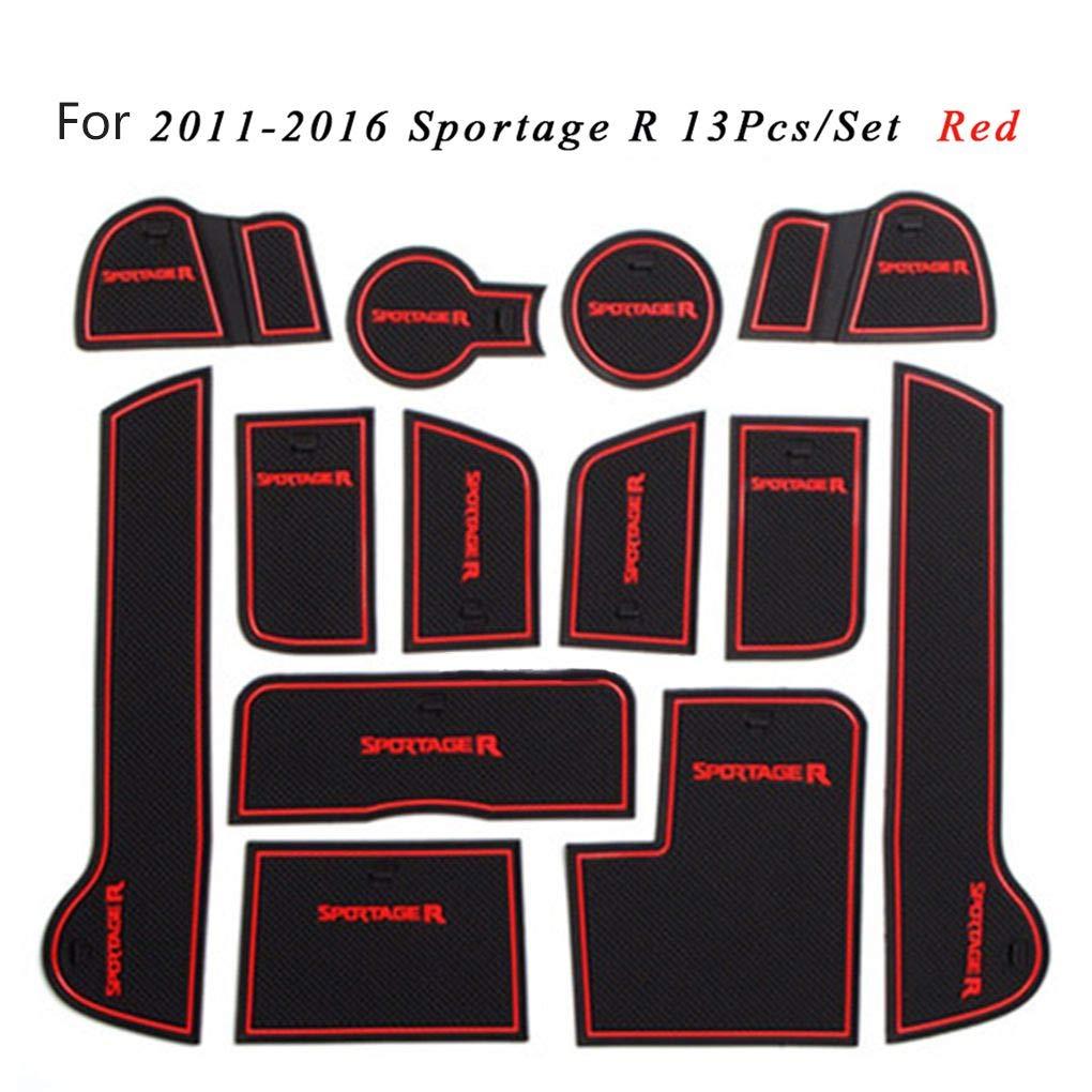 Republe 13pcs Set Innent/ür-Groove Pad Cup-Halter-Schlitz Mat Keine Rutschkissen Ersatz f/ür KIA Sportage R 2011-2016