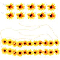 Zonnebloem kroon daisy bloem hoofdband haar krans bruid hoofdtooi festivals haarband (12 stuks)