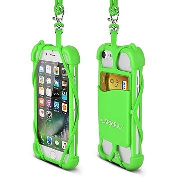ff404be4216 iPhone 8 Funda, Universal 4''- 6'' Silicona Carcasa Cuello Correa Case para  iPhone X 8 7 ...