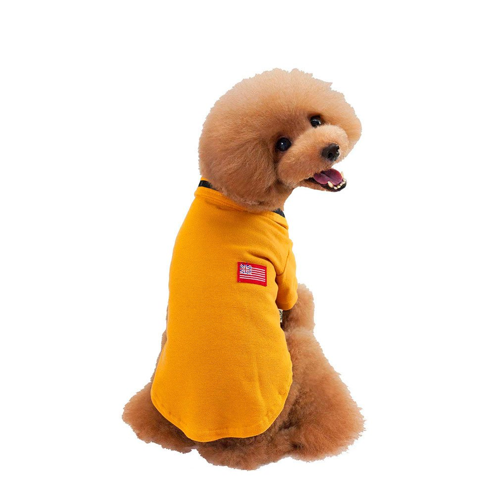 Yellow M Yellow M Puppy Pet Shirt Printed Fashion Style Pet Dogs Coat Small Dogs Clothes T-Shirt (M, Yellow)
