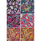 Paisley Vinyl PACK #2 Multi-pack Printed Craft Vinyl 6 Sheets 12x12 for Vinyl Cutters