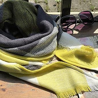 Femme Longue Écharpe Châle XXL Écharpe Chale Femme Cachemire Chaud Automne  Hiver Grand Plaid Tissu Glands 9813592f356