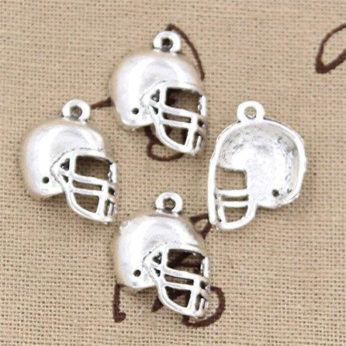 30pcs Charms soccor football helmet 20x15mm Antique Making Vintage Tibetan Silver Zinc Alloy - Football Helmet Charm