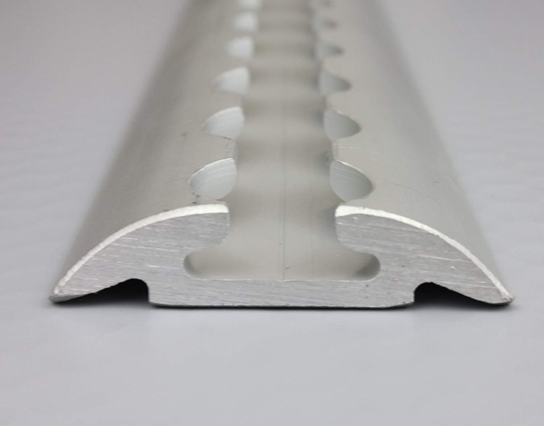 LaSi24 GmbH 1 x airlin Carril airlin de Carril, Forma semicircular, Aluminio, 20 mm de diá metro, 2 m, 20mm de diámetro 2m