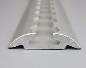 Lasi24 Airline Rail Semi Circular Profile Aluminium Black 2m Length Hole  Diameter 20 mm Pack of 2