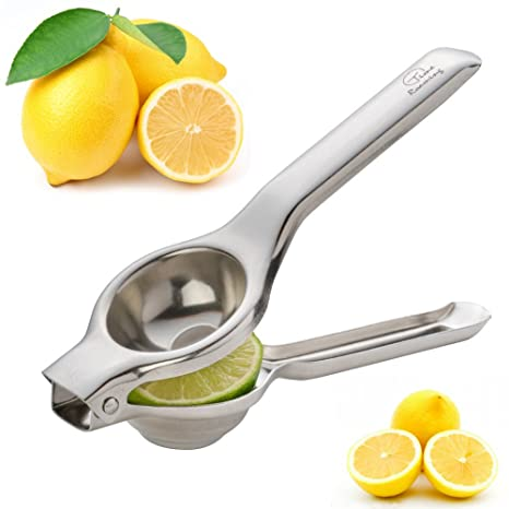 Tiempo itinerantes profesional de acero inoxidable manual exprimidor, limón naranja lima Exprimidor Exprimidor