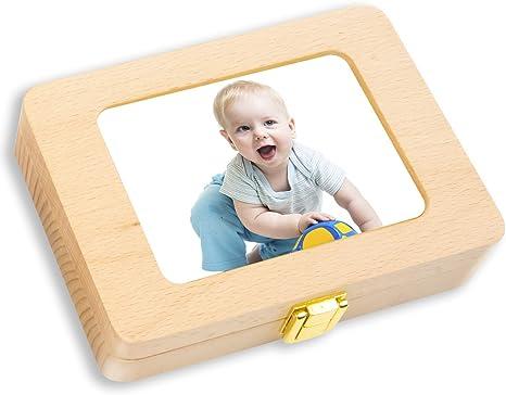 Caja de dientes para bebés, caja de madera rectangular para ...