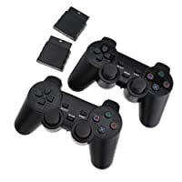 2 x Wireless Controller for PS2 Playstation 2 PS3 Playstation 3 Dual Shock Wireless Shock Game Controller Console Joypad Gamepad