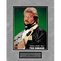 $41 » Ted DiBiase Autograph Photo Pose Hold Belt 11×14 - Autographed Wrestling Miscellaneous Items