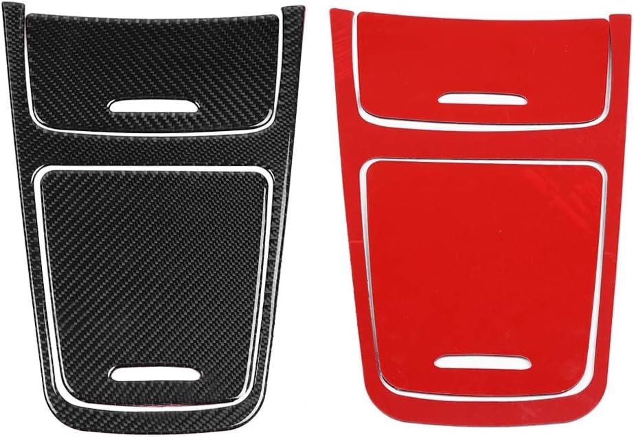 Cuque Carbon Fiber Central Control Panel Cover Trim Console Center Console Dashboard Control Panel Cover Trim Trim Cover for MB Mercedes Benz A Class CLA GLA Black