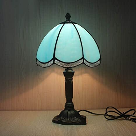 Tiffany Style Table Lamp/Nordic Simplicity Small Lamp/ Mediterranean  Bedroom Bedside Lamp/