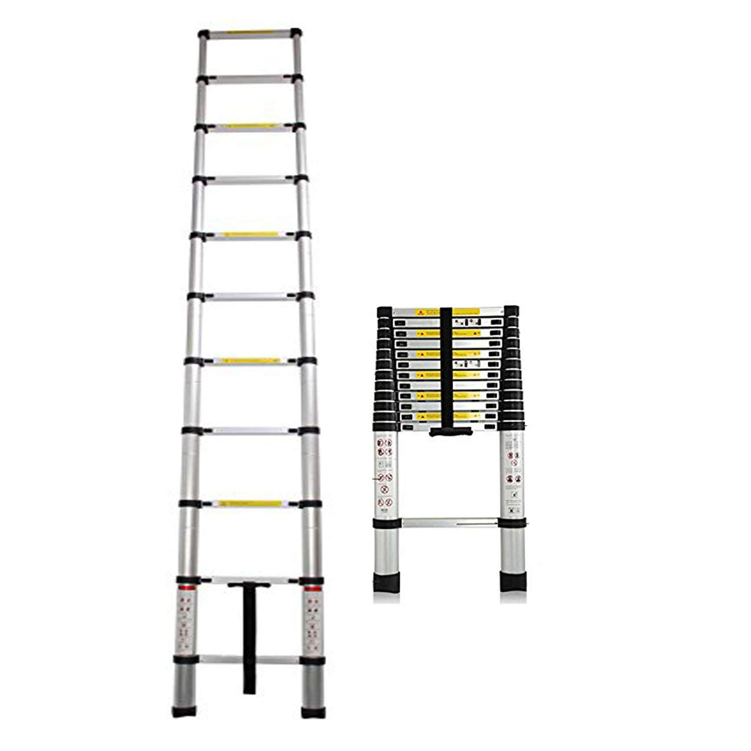 Extension Foldable Telescopic Ladders - High Quality Aluminum Straight Style Climb Telescopic Ladder Extendable Steps Ladders Extendable Telescopic (3.8M) AutoFu factory