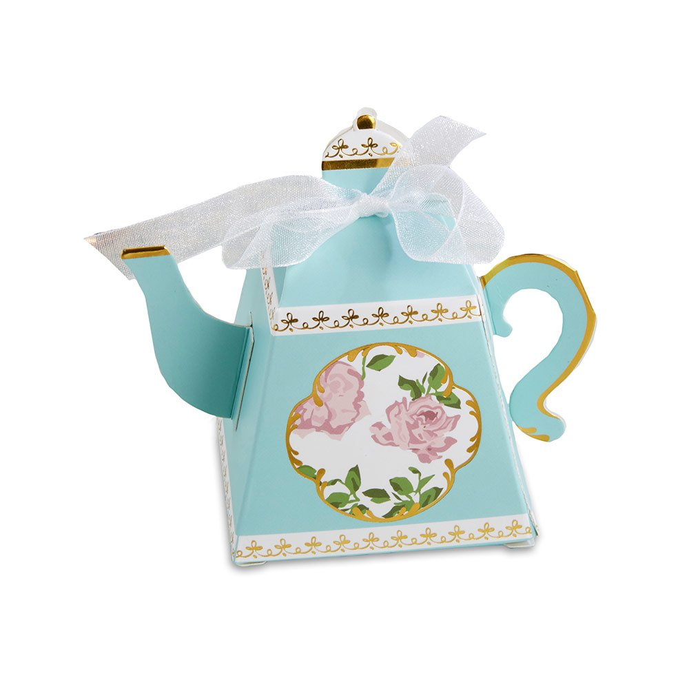 Amazon.com: Kate Aspen 28298NA Tea Time Teapot Favor Box (Set of 24 ...