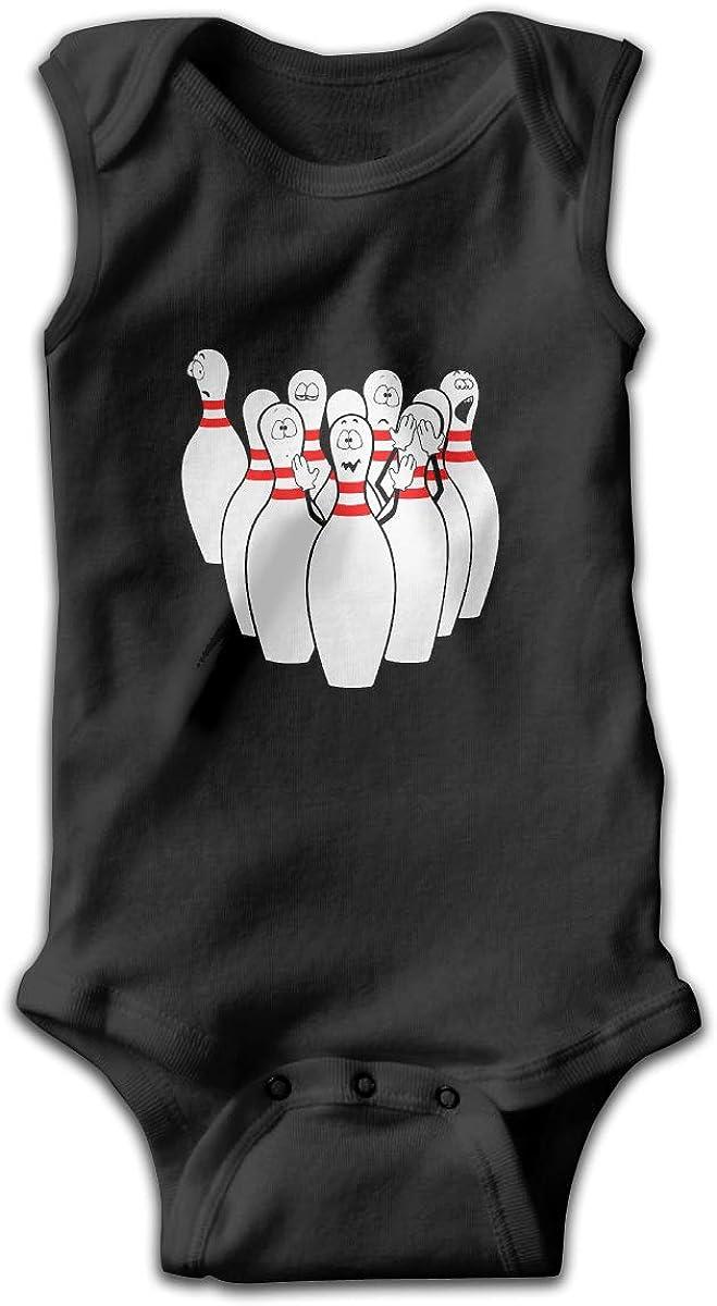 UyGFYytg Bowling Baby Newborn Crawling Suit Sleeveless Onesie Romper Jumpsuit Black