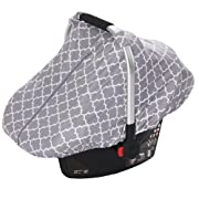Car Seat Canopy by JOYREN with Peekaboo Opening Infant Car Seat Cover for Baby Boy or Girl Can be Used as Nursing Cover