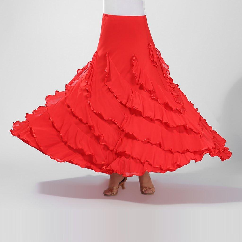 Blesiya Vestito Da Ballo Lungo Swing Swing Valzer Flamenco