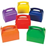 """Fun Express Bright Color Treat Boxes (12 pack) 6 1/4 x 3 1/2"""" x 6"""". Cardboard"""