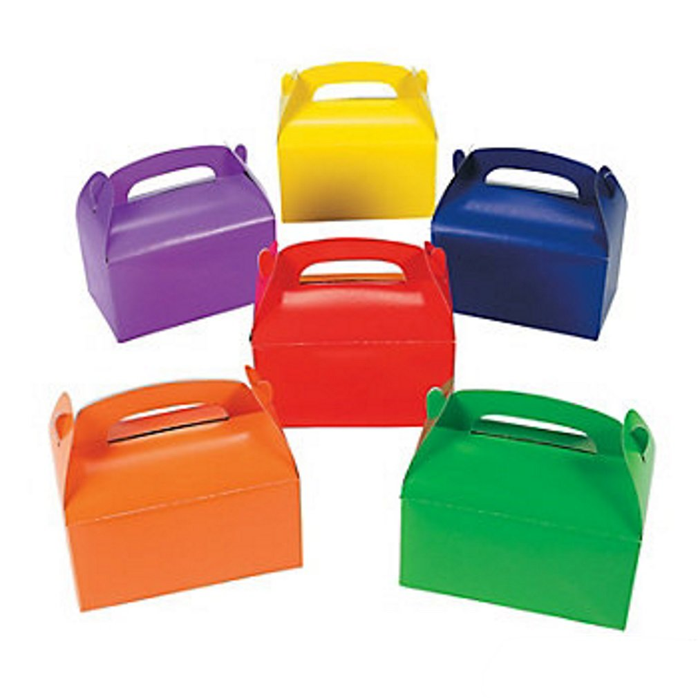 Assortment of Bright Colored Dog Treat Boxes