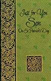 Gold Swirls on Textured Green: Son - Freedom Greetings St. Patrick's Day Card