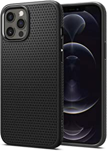 Spigen Liquid Air Armor Designed for Apple iPhone 12 Pro Max Case (2020) - Matte Black