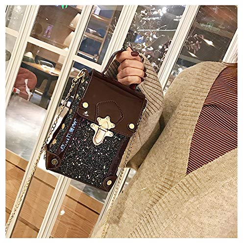 In Vernice Tracolla Cellulare Messenger Rosso Quadrata Moda Borsa Piccola Bag Donna Vino Versatile Baguette Per Chaobaobao wxqg0zUpvw