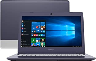 "Notebook Vaio C14, Intel Core i3 6006U, 4GB RAM, SSD 128 GB, SSD 128 GB, tela 14"" LCD, Windows 10, VJC141F11X"