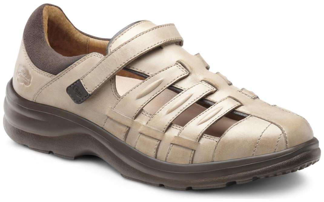 Dr. Comfort Women's Breeze Light Gold Diabetic Fisherman Sandals - 10.5 X-Wide (E/2E)
