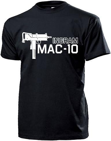 Mac de 10 Ingram Uzi eléctrica pistola US Army USA Arma Deko Camisa de protección personal MP América Policía – Camiseta # 16032: Amazon.es: Ropa y accesorios