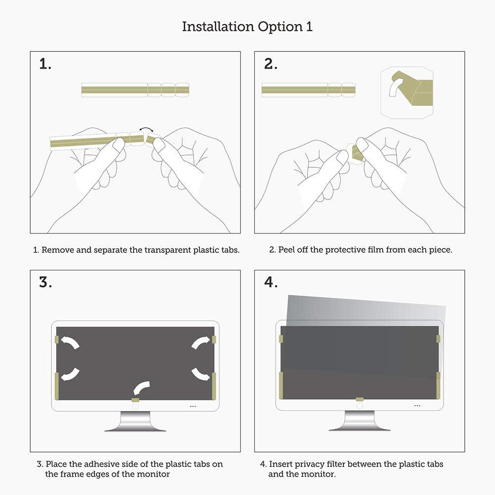 Removable Reusable FIVESTAR Privacy Filter Screen Protector Film Widescreen Computer Monitor Anti-Glare 12.5-Inch to 21.5-Inch 14, Balck