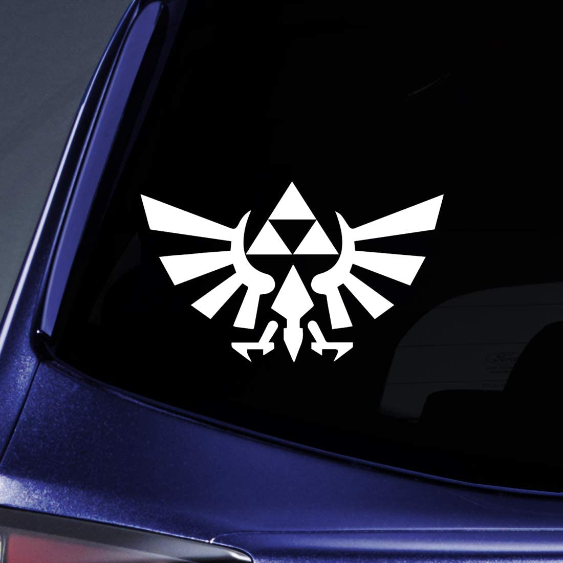 """Bargain Max Decals - Triforce Logo Wings Symbol Sticker Decal Notebook Car Laptop 5"""" (White)"""