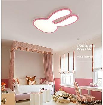 5151buyworld prinzessin zimmer rosa oder weiss oberflache montiert moderne led deckenleuchter fur kinder kinderzimmer kaninchen madchen