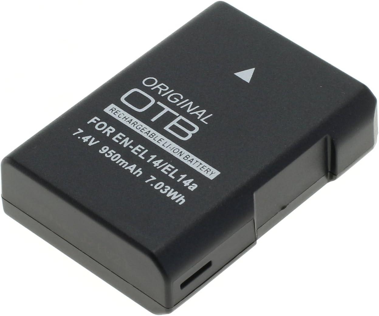 OTB 8011932batería para Nikon EN-EL14A Ion de Litio–Última versión Negro