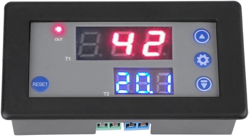 Temporizador del ciclo de sincronización del relé de sincronización 12V Temporizador del temporizador del ciclo A Doble Pantalla Del LED Digital