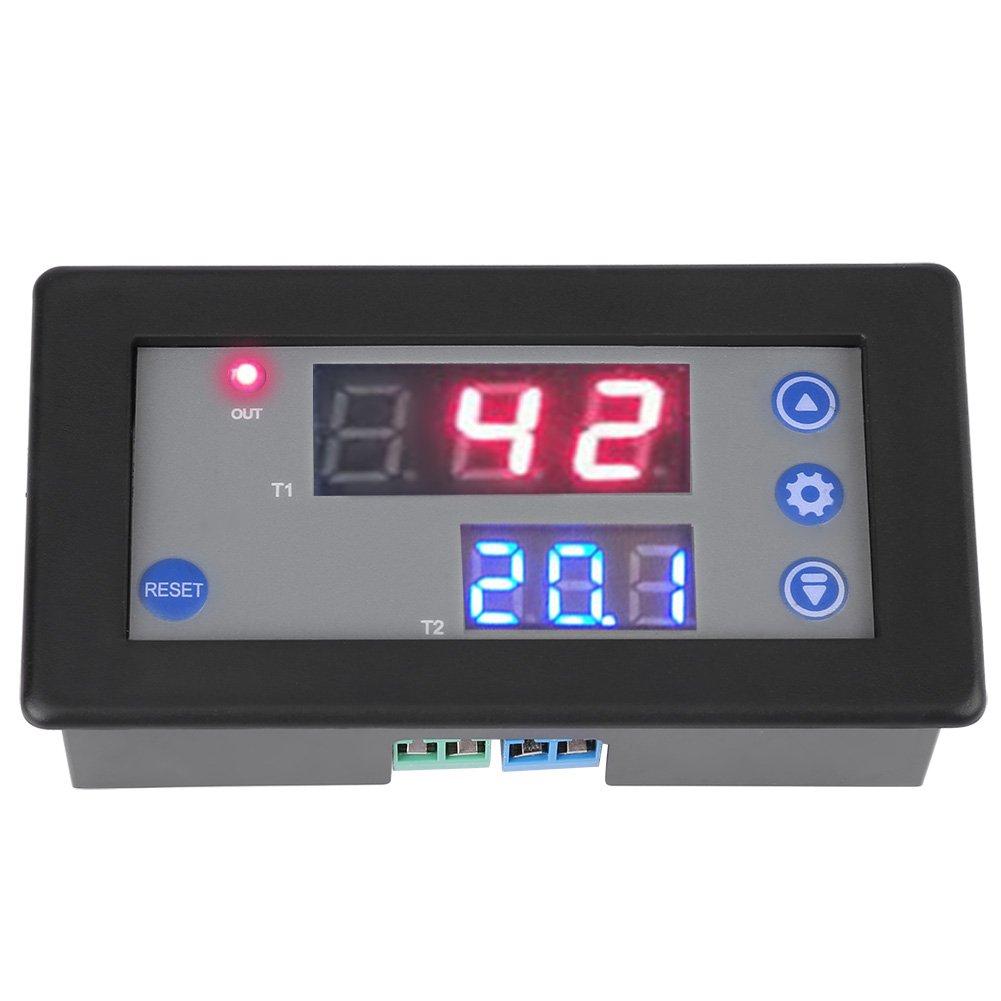 Módulo de relé de retardo de temporizador doble de ciclo digital multifunción Control de interruptor de tiempo DC 12V