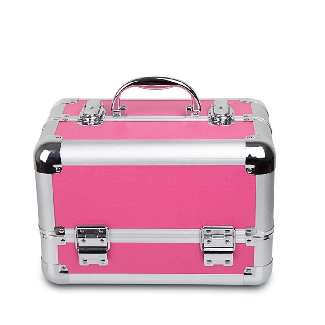 FELICIAAA エクストラ大容量倉庫美容ボックスメイクアップネイルジュエリー美容ドレッサーバニティケースピンク (Color : ピンク) B07NW4ZNGX ピンク