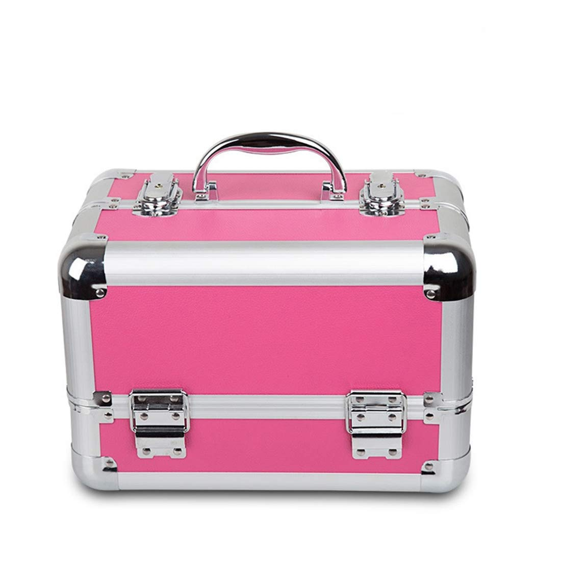 KERVINJESSIE Extra Large Space Storage Beauty Box Make up Nail Jewelry Cosmetic Dresser Vanity Case Pink (Color : Pink)