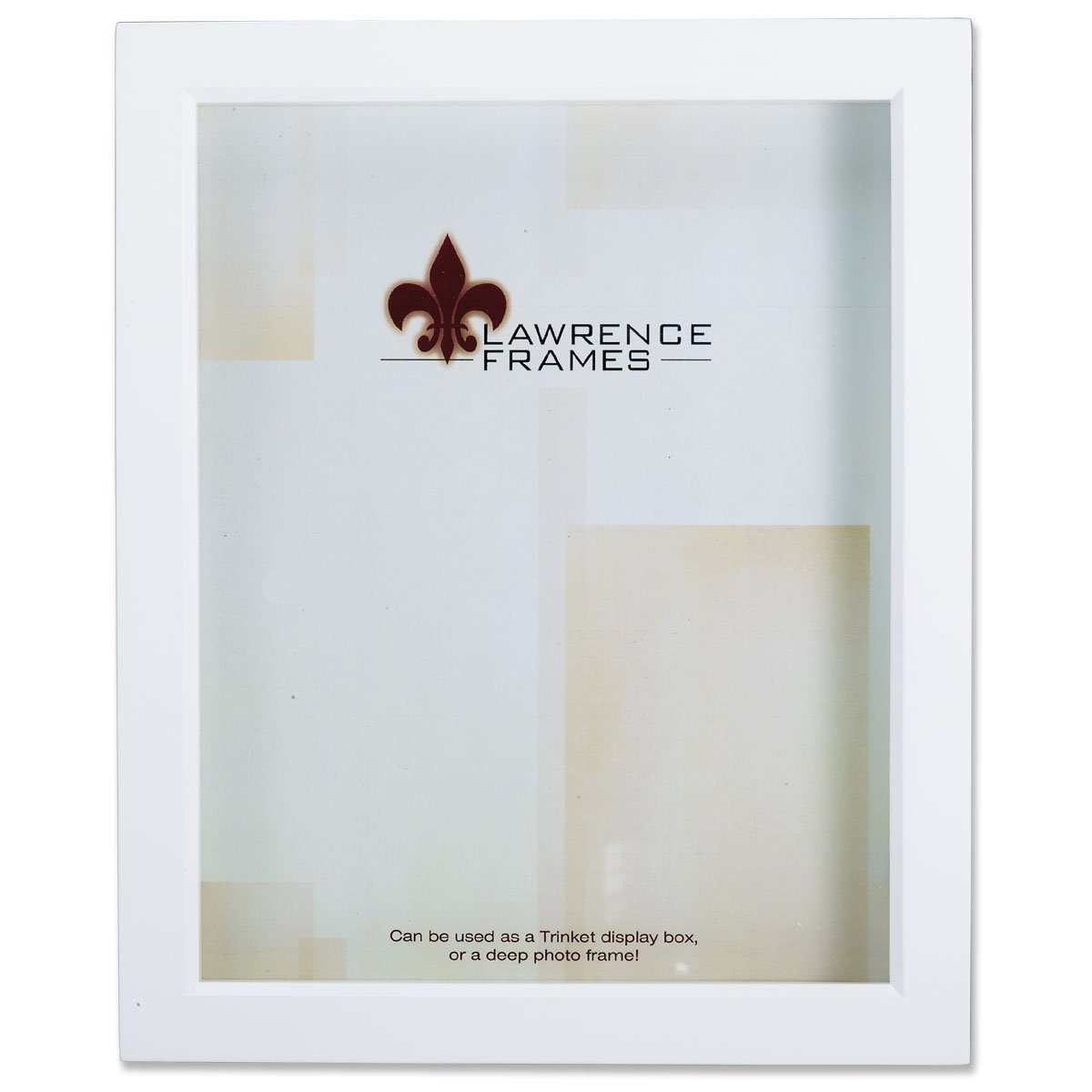 Lawrence Frames White Wood Treasure Box Shadow Box Picture Frame, 5 by 7-Inch 795257