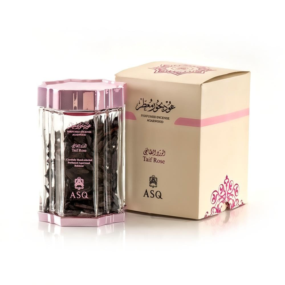 Perfumed Incense Agarwood - Taif Rose 70g from Abdul Samad Al Qurashi - Carefully Hand-selected Perfumed Agarwood Oud Coarse Powder with Taifi Rose Ward ASAQ ASQ