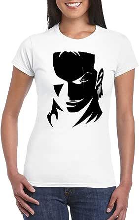 White Female Gildan Short Sleeve T-Shirt - Zoro Face D2 design