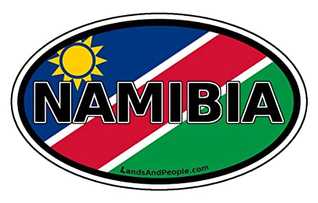 Namibia flag africa state car bumper sticker decal oval