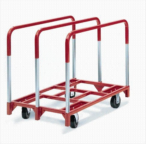 Raymond Products Panel Mover with 2 Fixed and 2 Swivel 5 in. Quiet Poly Casters 3 Standard Uprights (Mover Steel Upright Panel)