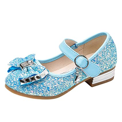 69127927aab84 Amazon.com: Toponly Kids Girls Mary Jane Wedding Party Shoes Glitter ...