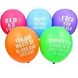 Echolife 12 inch 25 Count Assorted Color Abusive Party Balloons Birthday Decorations Party Favors