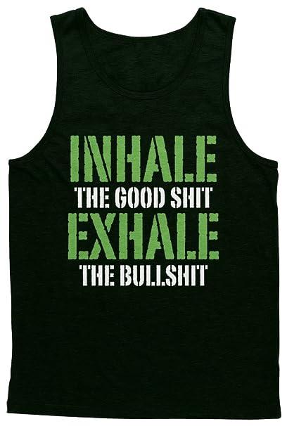 a0b58f7a677b3 Amazon.com  Blittzen Mens Tank Top Inhale The Good Shit  Clothing