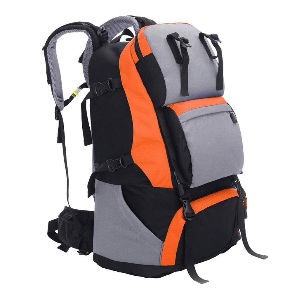 MLpus メンズ アウトドア バックパック ハイキング キャンプ 60L クライミングバッグ 男女兼用 キャンプ トラベルバックパック オレンジ ZAD-465  オレンジ B07MMBNBS6