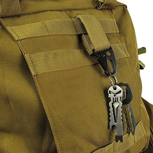 Nylon Tactical MOLLE Belt Carabiner Keychain Camp Bag Hook wölbun
